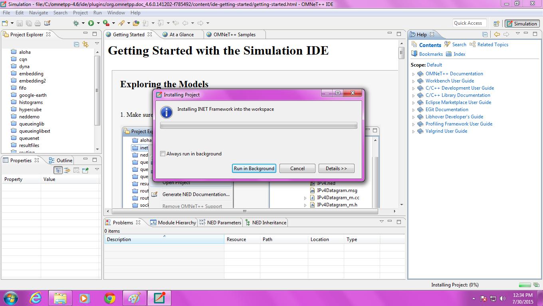 Omnet Inet Installation Step5