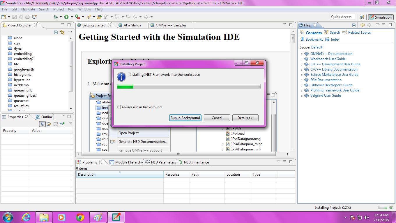 Omnet Inet Installation Step6