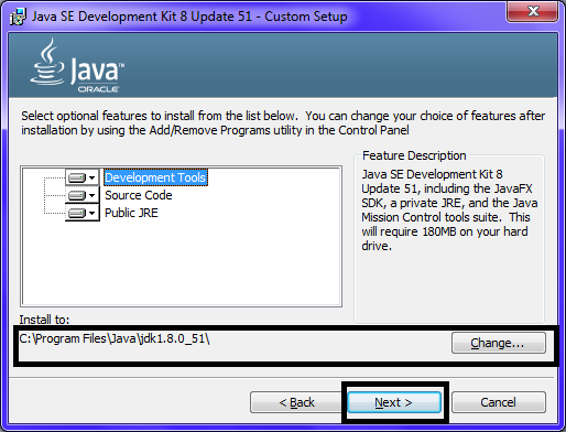 Omnet JDK Installation Step10