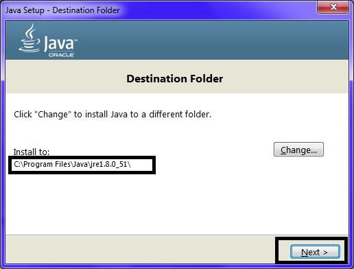Omnet JDK Installation Step13