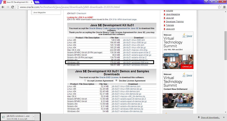 Omnet JDK Installation Step6