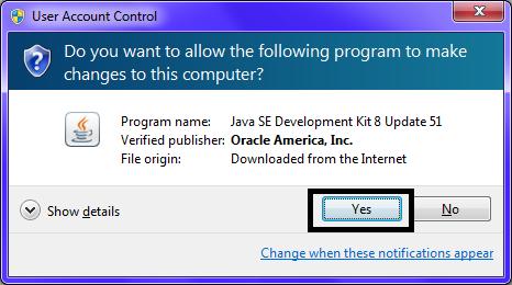 Omnet JDK Installation Step8