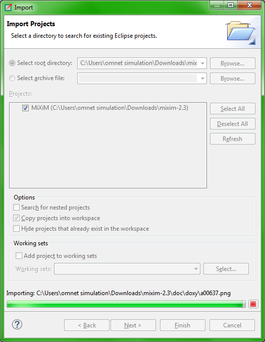 Omnet MIXIM Installation Step13