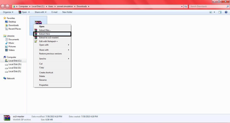 Omnet OS3 Installation Step4